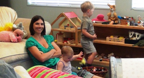BEBA family engaging in play therapy at the Santa Barbara clinic