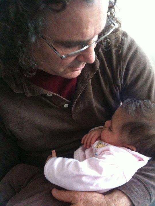BEBA Cofounder Ray Castellino holding baby